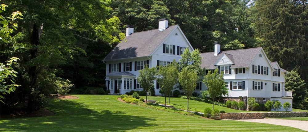 large house with landscaping