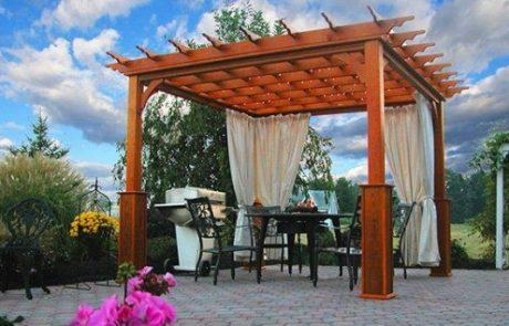 pergola outdoor seating