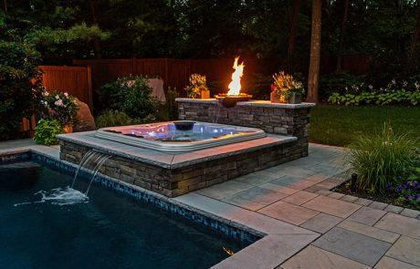 outdoor fire and spa