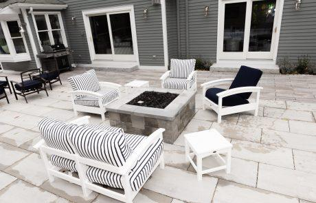 Manchester MA stone fire pit