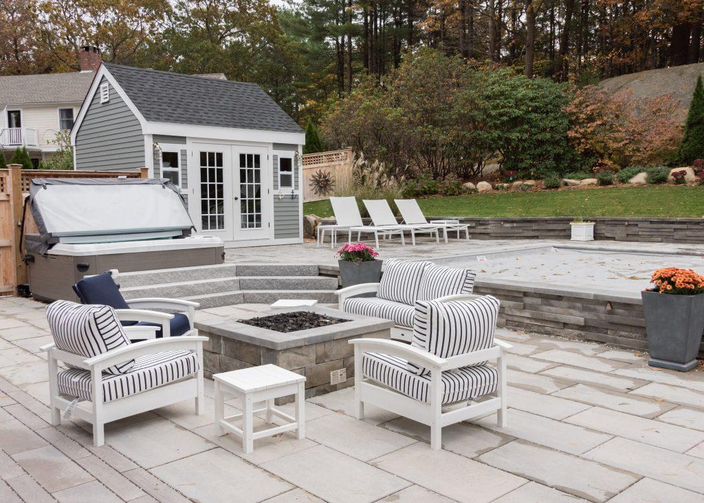 stone fire pit in Manchester MA