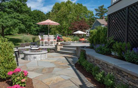 custom stone landscape features