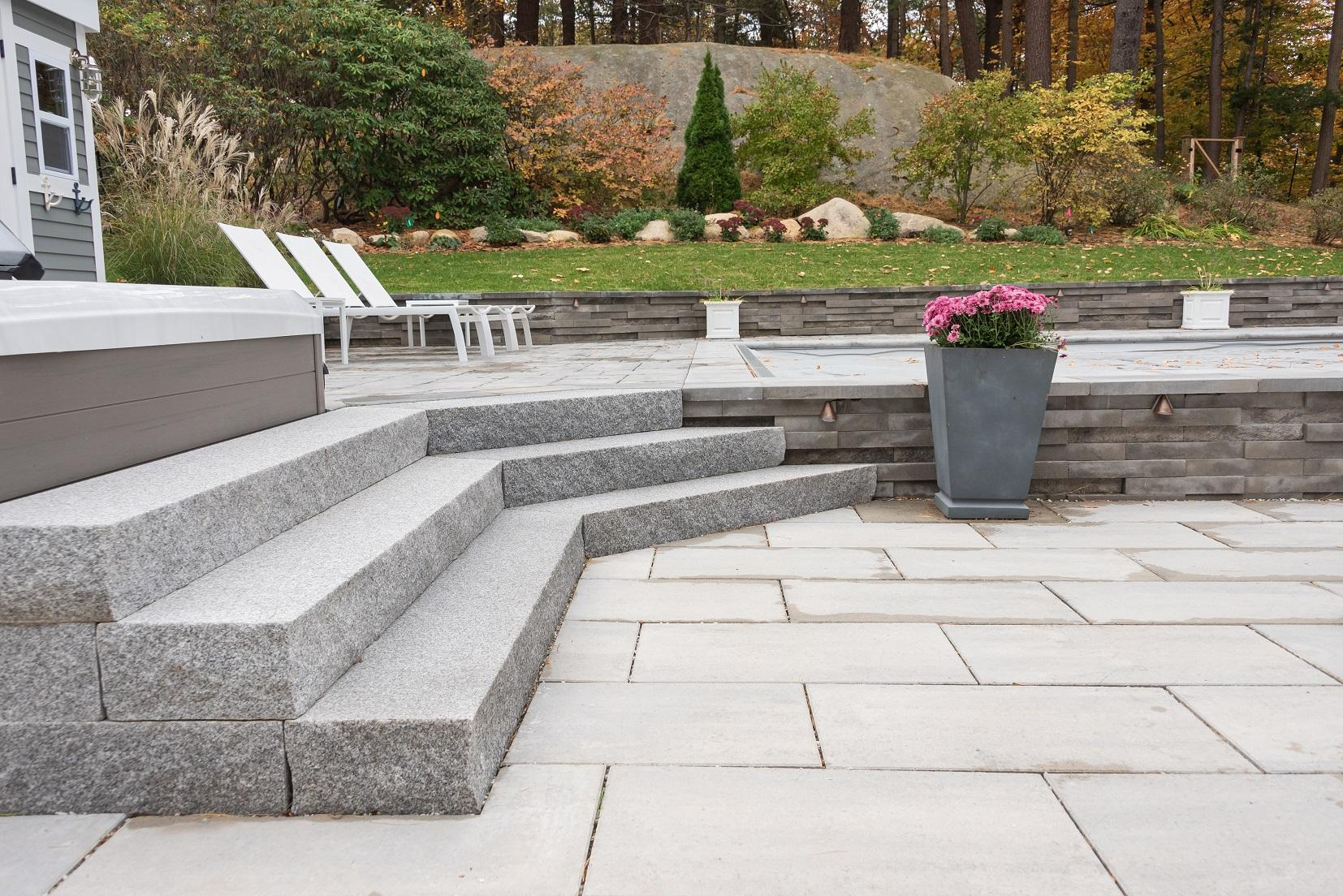 stone pavers and steps