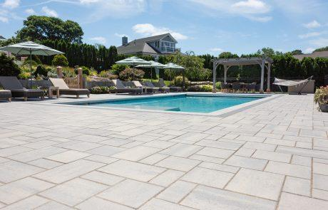 stone pool patio pavers