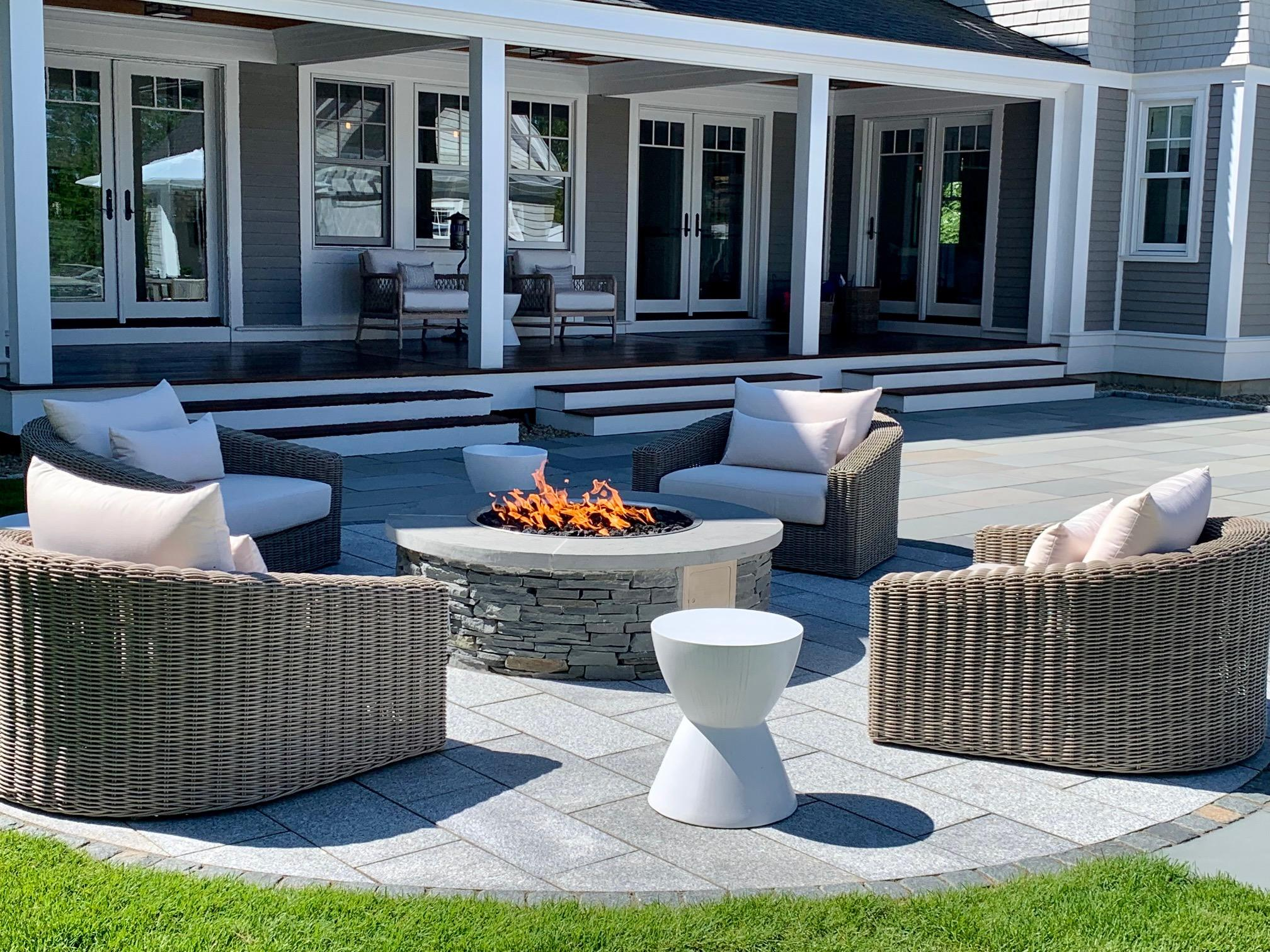 paved fire pit area