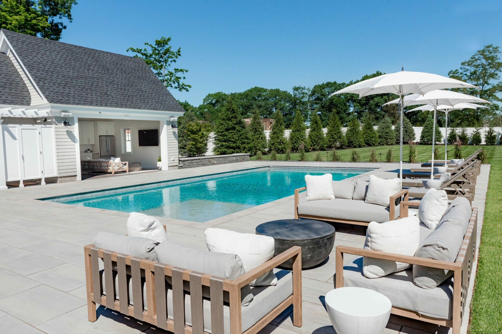 pool and entertainers patio